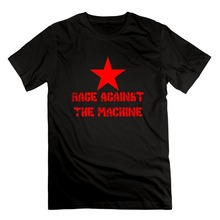 Men'S Fashion Black Cotton Men's Rage Against The Machine Anarchy Cotton Short Sleeve T Shirts