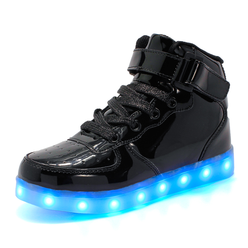 children shoes with light 2018 baby boys girls Luminous shoes chaussure led enfant child fashion kids sneakers USB Charging kids light up shose with wings children usb charging led light shoes sneakers luminous lighted boy girl shoes chaussure enfant