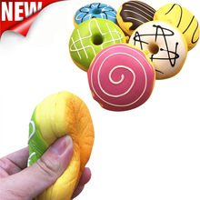 New Gag Toys Squishy Squeeze Stress Reliever Soft Colourful Doughnut Scented Slow Rising Toys Funny Anti Stress toy Dropshipping(China)