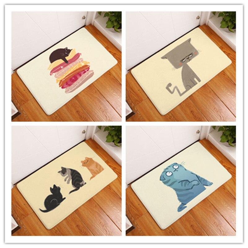 Door Mat Cartoon Lovely Animals Cat Carpets Bedroom Rugs Decorative Stair Mats Home Decor Crafts