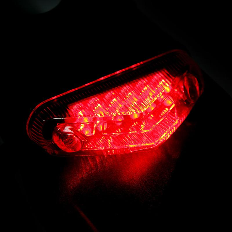 Motorcycle 12LED Stop Light Rear Fender Brake Tail Light For HONDA 250