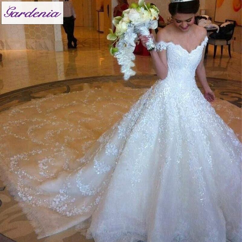 Princess Ball Gown Bridal Dresses Vestido De Noiva Renda Robe De ...