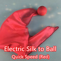 Electric Silk to Ball - Quick Speed (Red) magic tricks magic ball
