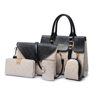 bfae7ec9e91e 5Pcs Set Fashion Luis Vintage Envelope Handbags Leather Louis Purse Ladies  Hand Bags Tassen Bolsos Mujer Bag For Women HDG214 4-in Clutches from  Luggage ...