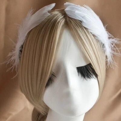 Novelty Feather อุปกรณ์เสริมผมแต่งงานเจ้าสาวเครื่องประดับแสดง Feather Headdress Hairpin Hairpin ขายส่งเครื่องประดับ Angel Studio