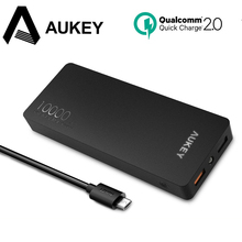 AUKEY Quick Charge 10000mAh Power Bank for Xiaomi Mi, Portable Charger Power Bank 10000 mAh for iPhone 8 7 Powerbank for Samsung