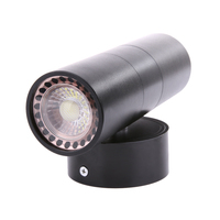 Black LED Wall Light Waterproof IP65 Stainless Steel Up Down GU10 Double Wall Lamp Indoor Outdoor