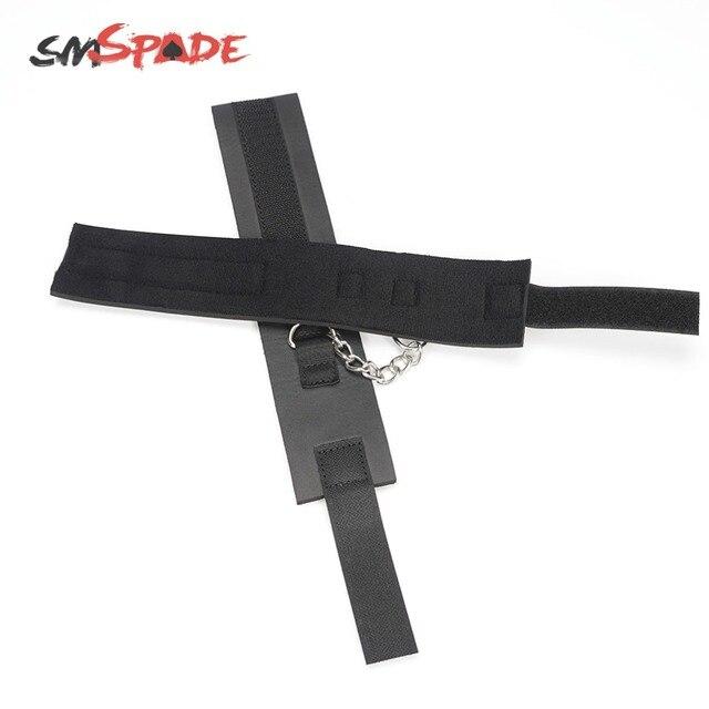 SMSPADE noir jouets sexuels menottes menottes Bondage cheville menottes Bondage esclave jouets sexuels pour Couple BDSM produits sexuels