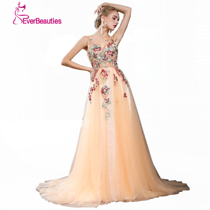 Robe De Soiree Summer New Evening Dress Luxury Yellow Lace Flower with Beading Floor length The