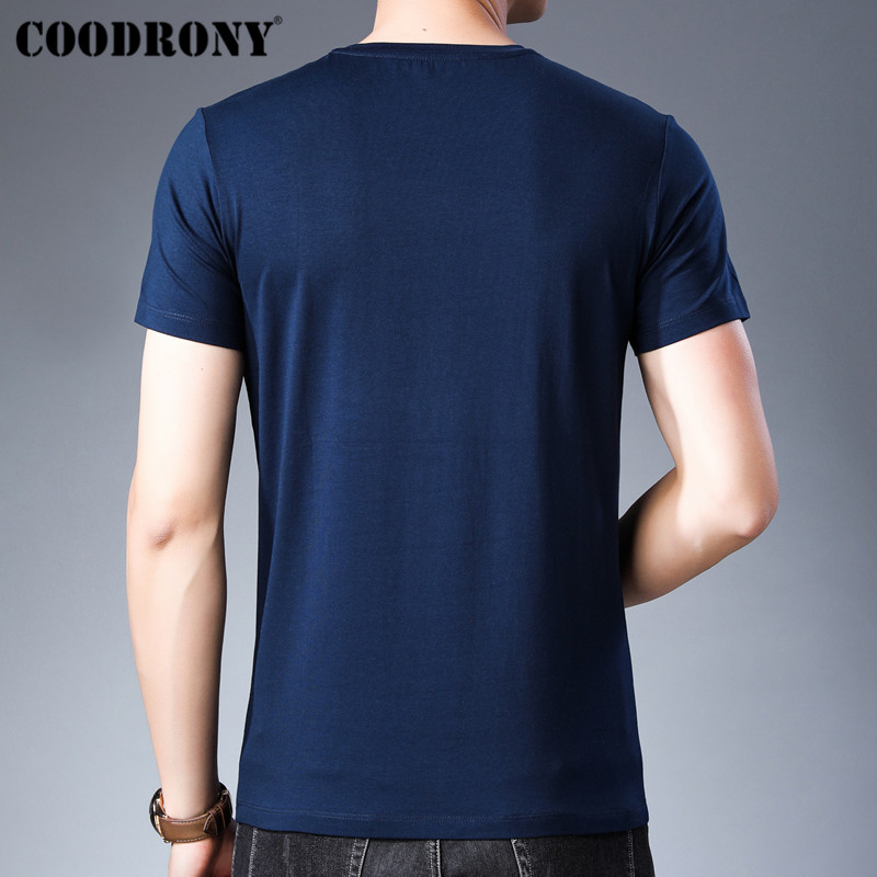 COODRONY T Shirt Men Streetwear Fashion O Neck Tshirt Summer New Arrivals Short Sleeve T Shirt Men Cotton Tee Shirt Homme S95139 in T Shirts from Men 39 s Clothing