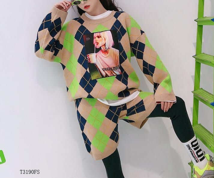 Estilo Moda Color 2019 photo Mujeres T3190 Casual Patchwork Photo Color Llegadas Nuevas Traje Europeo De Verano Suelta Impresión Ropa Primavera ffTYrxS