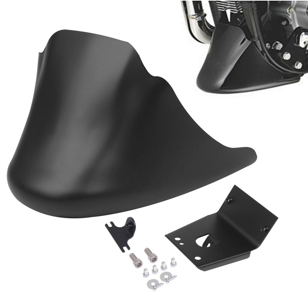 Motorcycle Matte Light Black Front Bottom Spoiler Mudguard Air Dam Chin Fairing For Harley XL Sportster 883 1200 in Covers Ornamental Mouldings from Automobiles Motorcycles