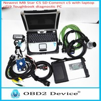 Top quality MB Star C5 With Laptop CF19 Auto Diagnostic tool with Software 2018.03V full function For Ben z cars' Scanner