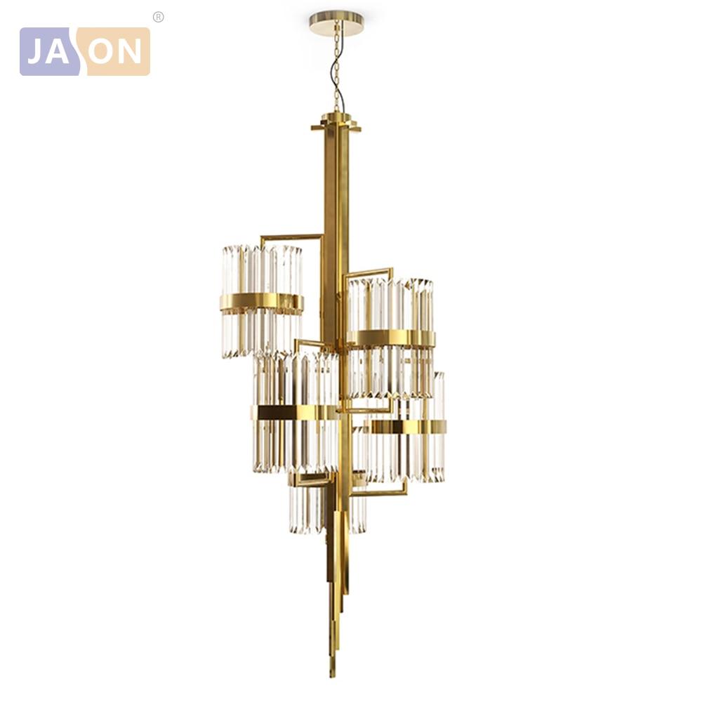 LED американский Винтаж гладить Кристалл Золото индивидуальные светодиодный светильник. открытый Подвесные Светильники. подвесной светиль