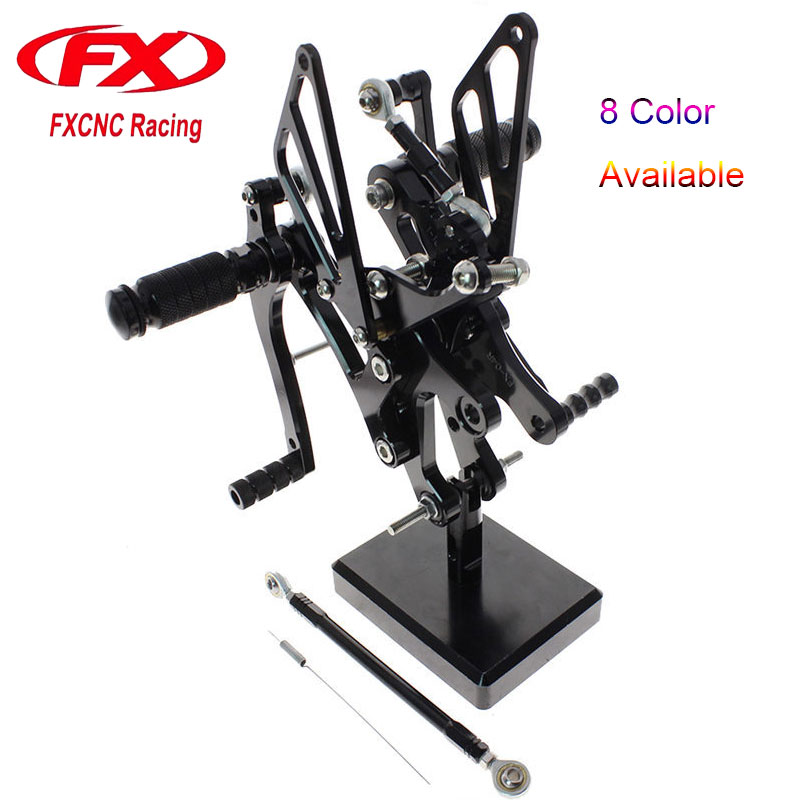 FX CNC Motorcycle Adjustable Aluminum Foot Rests Rear Sets Foot Pegs Fit for YAMAHA YZF R6 1999 2000 2001 2002 Rearset 6 colors cnc adjustable motorcycle brake clutch levers for yamaha yzf r6 yzfr6 1999 2004 2005 2016 2017 logo yzf r6 lever