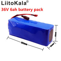 LiitoKala 36V 6ah 500W 18650 lithium battery 36V 8AH Electric bike battery with PVC case for electric bicycle|Battery Packs| |  -