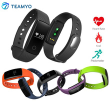 Teamyo V05C Bluetooth SmartWatch Пульс монитор сердечного ритма cardiaco умный Браслет фитнес-трекер Шагомер Спорт SmartBand