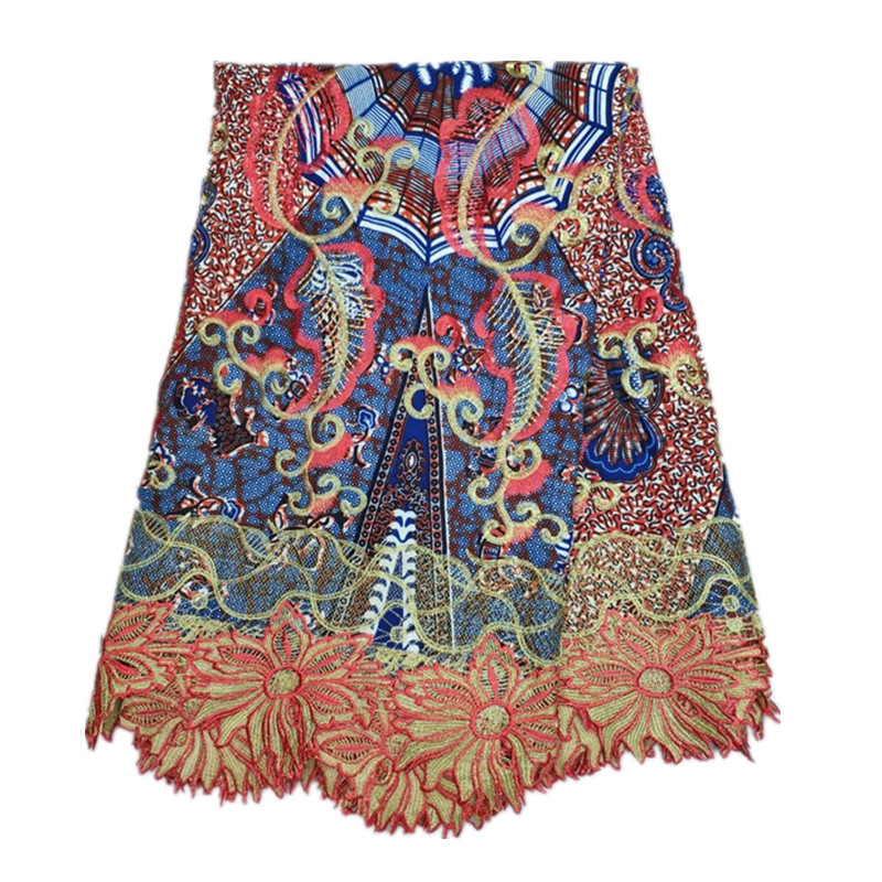 Fashion Water soluble lace hollandais printed wax style African lace fabrics embroidered lace fabrics for women 6 yards!TE-3616