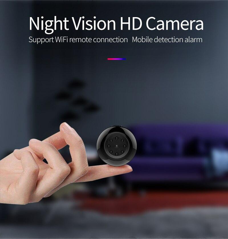 Mini caméra WiFi caméra Full HD Micro Action corps caméra numérique secrète caméscope Version nocturne capteur de mouvement mini kamera wifi