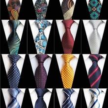 bbd0b6972045 New Design Paisley Plaid Jacquard Woven Silk Mens Ties Neck Tie 8cm Striped  Ties for Men