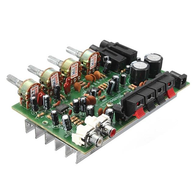 9cm x 13cm Electronic Circuit Board 12V 60W Hi Fi Stereo Digital Audio Power Amplifier Volume Tone Control Board Kit