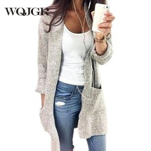 WQJGR Cardigan Sweater Women 2018 Autumn And Winter Oversized Loose Coat Long Sleeve Knitting 5XL
