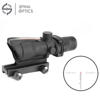 SPINA OPTICS Tactical Hunting Rifle Scope Optic Sight Airsoft ACOG 4X32 Airsoft Scope Real Green Red
