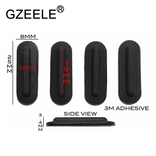 GZEELE 4pcs/set New for Lenovo for Thinkpad T540P W540 W541 T440 T450 X230S X240 X250 X260 Base bottom cover rubber foots feet