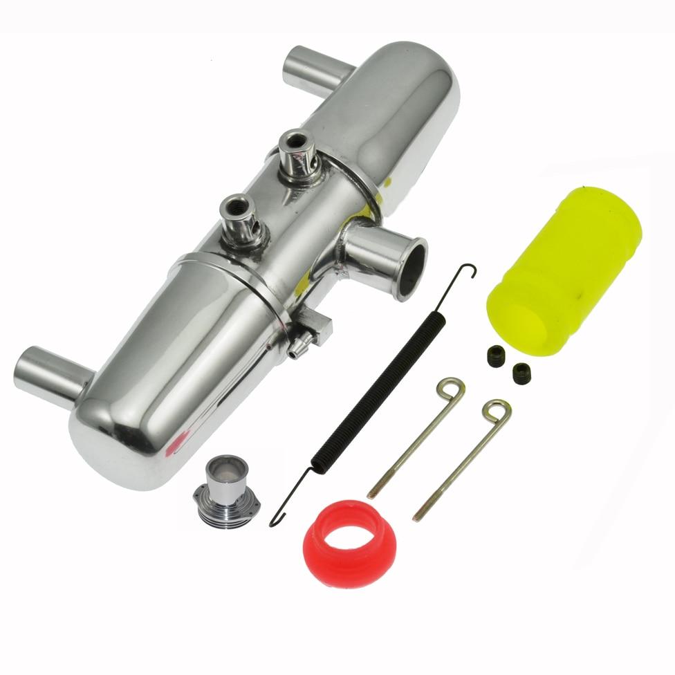 18001 P Mise À Niveau En Aluminium Double Échappement Tube Mixte pour 1/8 HPI Nitro Savage 4.6 5.9 RC Pièces De Voiture