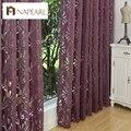 Várias cores prontas semi-cortinas blackout cego painel de tecidos para cortinas de janela roxo