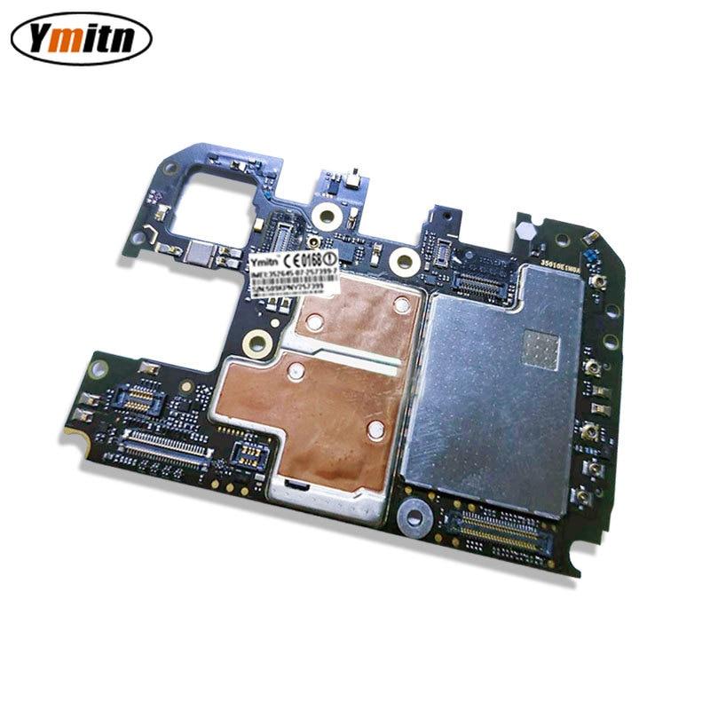 Ymitn, placa principal móvil desbloqueada, placa base con Chips de circuitos, Cable flexible para Xiaomi 8 Mi8 M8 Mi 8 6GB