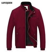 Для мужчин, куртка на молнии одноцветное Модные пальто Весте Homme casaco masculino мужской Повседневное Slim Fit 3