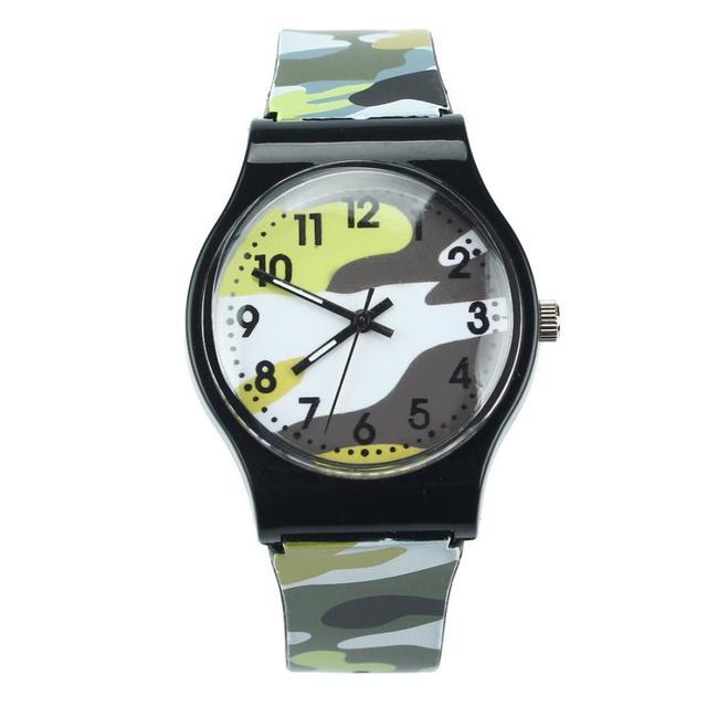2018 Fashion Children Watches Camouflage Style Boy Girls LED Analog Quartz Watch