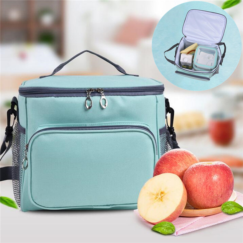Newest Insulated Cooler Thermal Picnic Lunch Box Waterproof Tote Lunch Bag for Kids Adult Outdoor Bags Picnic Bag Insulated Bags gzl new gray waterproof cooler bag large meal package lunch picnic bag insulation thermal insulated 20