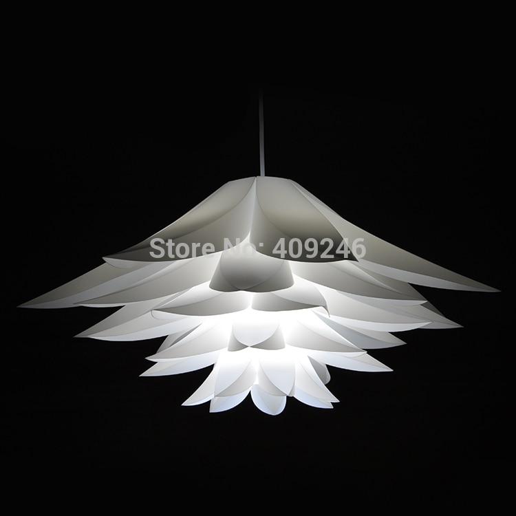 ФОТО 45CM  LED lighting PVC lilies Flower Decorate Pendant LampNot including bulb