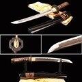 Brandon Spade Sharp Completa di Linguetta Samurai Tanto Pratica Spada Giapponese Breve Coltello 1060 In Acciaio Al Carbonio Onda Hamon Metallo Complementi Arredo Casa