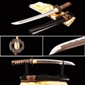 Brandon Zwaarden Sharp Volledige Tang Samurai Tanto Zwaard Praktijk Japanse Korte Mes 1060 Carbon Staal Wave Hamon Metalen Home Decor