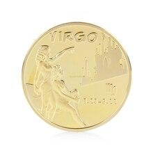Осмысленный дизайн Девы Позолоченные 12 созвездий памятные монеты коллекционные физический подарок