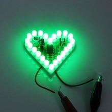 Зеленый DIY сердце Форма Дыхание лампы Комплект dc4v-6v Сам электронный Production DIY Наборы сердце Форма D лампы люкс электронный DIY комплект