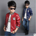 Boys Spring  Autumn 2016 new children's clothing boys big boy pu jacket coat jacket big virgin Kids leather clothes 3-14 years 2