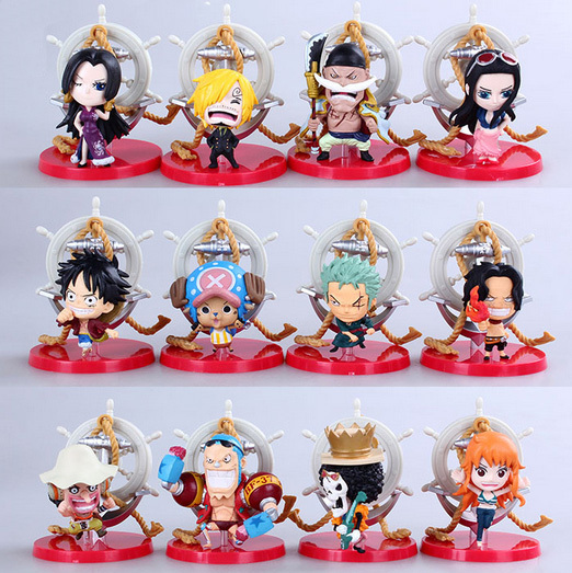 12pcs/set Anime One Piece Luffy Sanji Zoro Nami Robin Brook Ace PVC Action Figure Collection Toys One Piece Action Figure one piece figura luffy gear 2 pop one piece action figure japanese anime figure pvc figurine bonecos do one piece toys juguetes