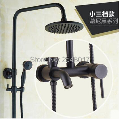 Aliexpress.com : Buy Single Handle Black Shower Faucet Wall Mounted ...