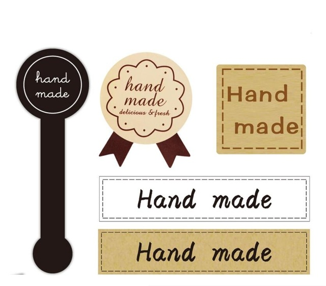 New 5 designs handmade sticker vintage stickers kraft label sticker diy hand made for
