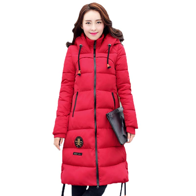 Plus Size Women Jacket Winter Cotton-Padded Long Thick Coat Casual Hooded Female Jacket Warm Women Parka Hot Sale PW0835 women s winter coat new parkas female thick padded cotton long outwear plus size parka casual jacket coat women c1251