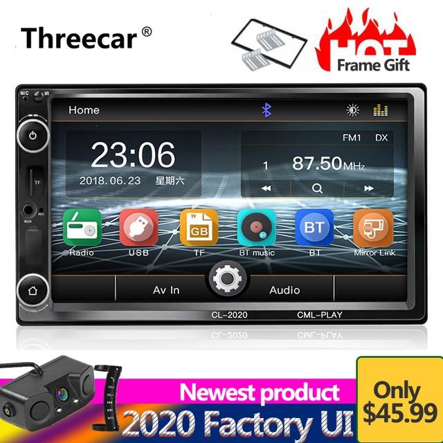 "2 Din Car Radio Video Player 7"" Touch Car Multimedia player MP5 Player USB FM Bluetooth Mirror-Link 2din Autoradio subwoofer"