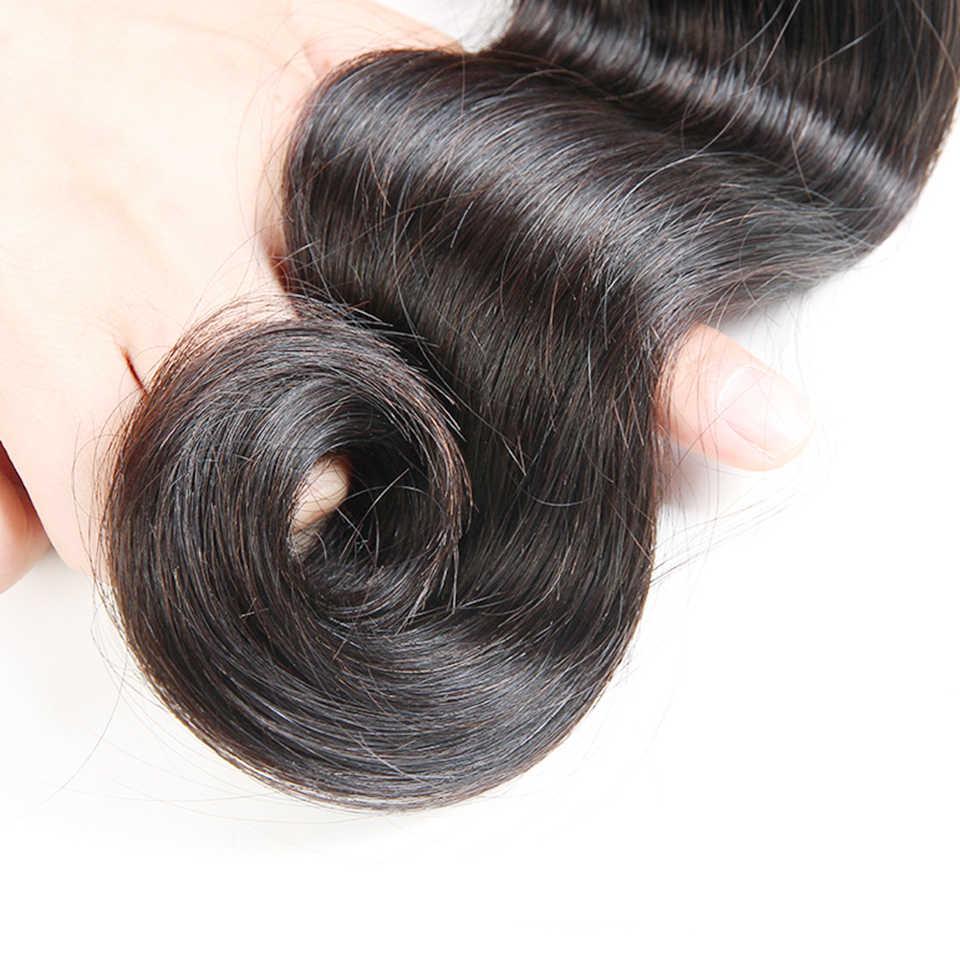 Бразильские волосы закрытия тела волна человеческих волос кружева закрытия естественный цвет 4*4 средняя часть дизайн 130% плотность Brenda не реми волосы