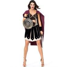 Umorden Women Ancient Roman Greek Female Soldier Warrior Spartan Xena Gladiator Costumes Halloween polyresin ancient greek roman warrior armor model creative home decration aircraft gift