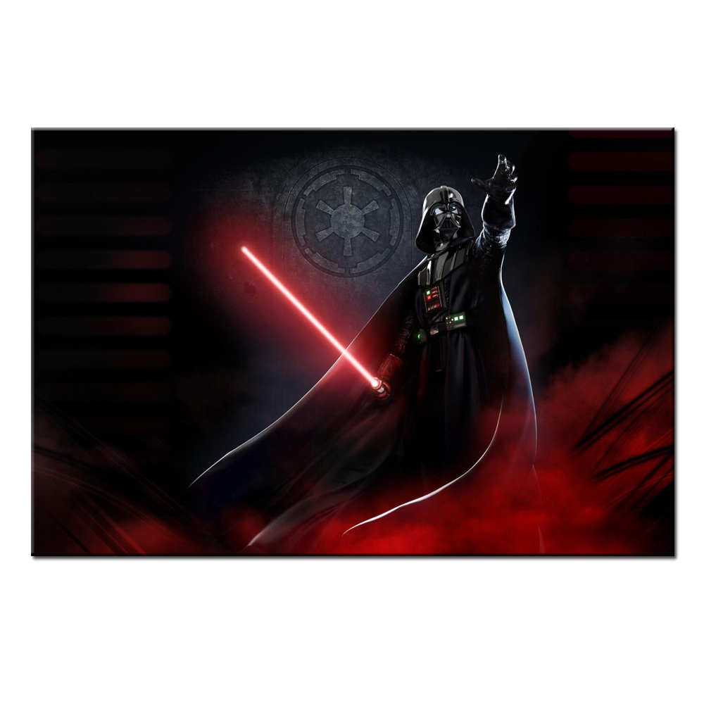 unframed home decoration art star wars movie darth vader wall art painting canvas home decor picture - Wholesale Poster Frames