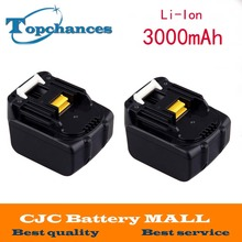 2pcs power tool battery For Makita BL1430 194066-1 BDF343 14.4V 3.3Ah 3000mAh Li-ion Battery Pack
