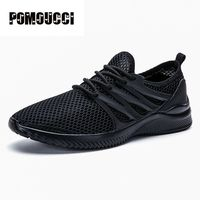 2017 Hot New Arrival Man Sports Running Shoes Boys Outdoor Walking Exercise Sneaker Solid Colors Super
